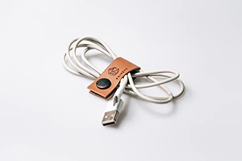 FRIHET® Organizador de cables de piel para escritorio, bolso, cajones, también para...
