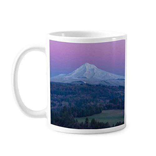 White Mountain Purple Blue Sky Mok aardewerk keramische koffie porselein Cup servies