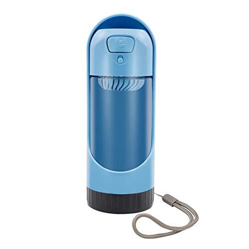 Portátil botella de PET de agua del recorrido del perro alimentador exterior Tazón gato cachorro Dispensador de agua Filtro de carbón activado cuenco taza for beber ( Color : Blue , Size : 300ML )