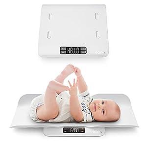 Amazon Brand - Eono Báscula Para Bebés 2 en 1 Con Bandeja Cómoda y Segura y Función
