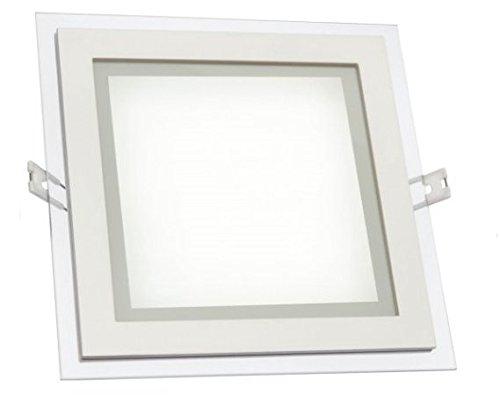 3 SPOTS LED 6W Plafonnier Carré bordure design Encastrable design 320LM Lumière Blanc Neutre 4000K angle d'éclairage 120° Dimension 100 * 100mm épais 35mm AC 85-230V [Classe énergétique A+]