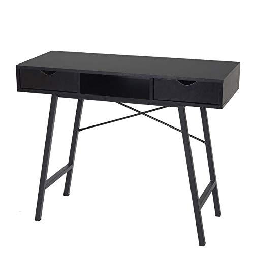 Mendler Konsolentisch HWC-E92, Ablagentisch Beistelltisch, 3D-Struktur 100x40cm - schwarz