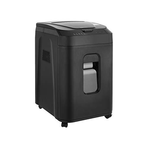 Amazon Basics - Trituradora de papel con microcorte y alimentación automática de 150 hojas