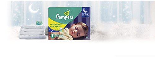 Diapers Size 5 - Pampers Swaddlers Overnights Disposable Baby Diapers, 50 Count, Super Pack