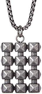 Steve Madden Men's Xsts Studded Dogtag Necklace - SMNS489287OX