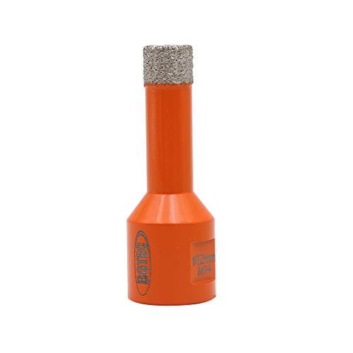 BGTEC Brocas de Núcleo de Diamante Seco para Baldosas de Porcelana, Mármol, Cerámica, Ladrillo con Rosca M14 de 12 mm de Diámetro