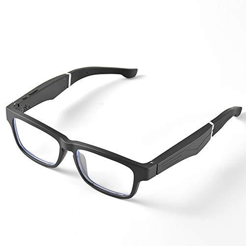 Smart Bluetooth Gafas de Audio Myopia Anti-BLU-Ray Call Respuestas Llamadas Escuchar música Moda Moda al Aire Libre Montar a Caballo Ligeros y cómodos Gafas de Sol,Plata