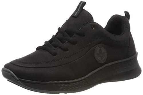 Rieker Damen N5604-00 Sneaker, Schwarz (Schwarz/Fumo 00), 39 EU