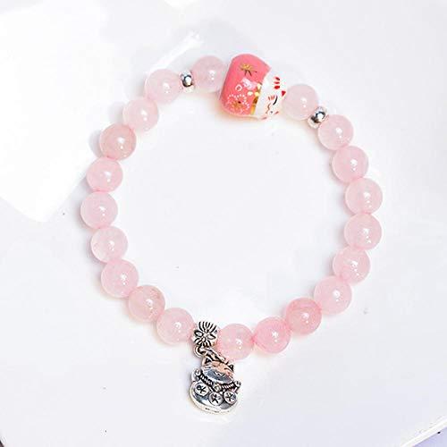 AOTEX Armbänder Armreifen Für Frauen Böhmisches Kristall Keramik Katze Charme Perlen Einstellbar Retro Cute Persönlichkeit Simple Geschenk Weiblich Handmade