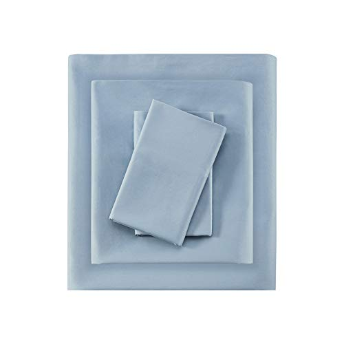 Sleep Philosophy SHET20-387 300TC Liquid Cotton Sheet Set King Blue