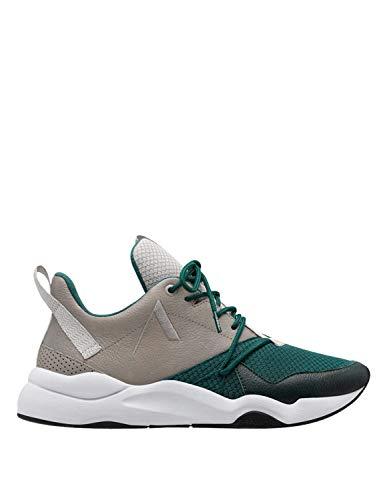 Arkk, ASYMTRIX Grey Garden,Sneaker Vert et Marron pour Homme, 45