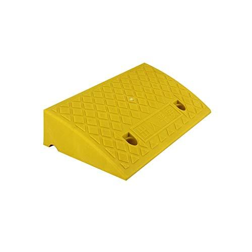 9cm / 13cm Ramps, Plastic Portable Driehoek Pad Taxi Motorcycle Curb Ramps Non-slip multifunctionele Rolstoelhellingen Geel/Groen (Color : Yellow, Size : 50 * 27 * 13CM)