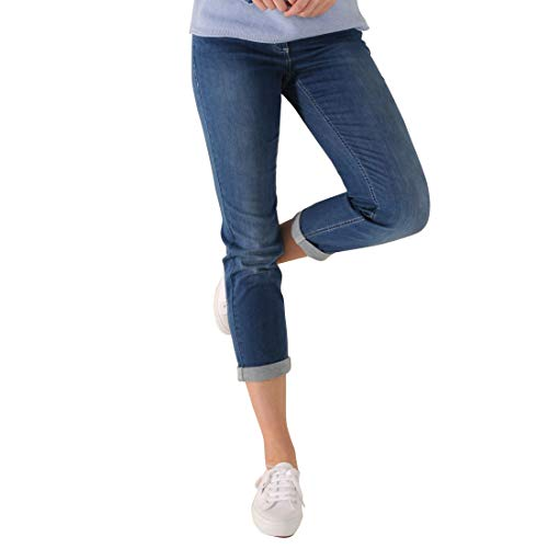 Pamela 7/8 Sommer Jeans Shaping-Jeans Stretchhosen Damen Superstretch ** Plus Prinidor Tasche (32, Denim Blue)