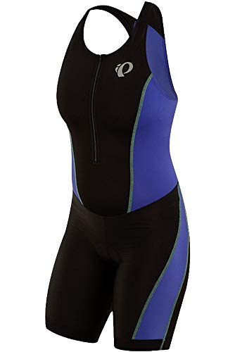 PEARL IZUMI Women's Select Pursuit Tri Suit, Black/Dazzling Blue, Medium