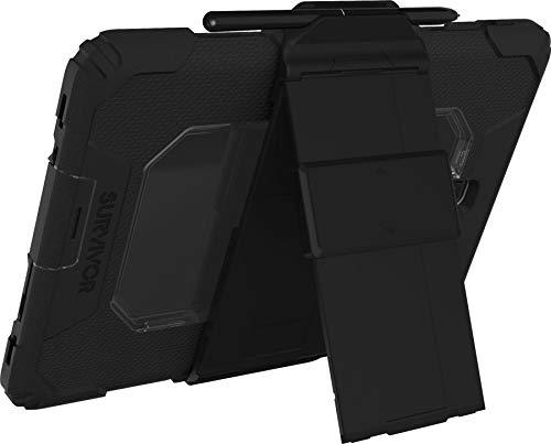 Handgriffin Survivor All Terrain Hülle Schutzhülle Samsung Galaxy Tab S4 10.5 - designed nach US Militärstandard (schwarz) [Standfunktion I Integrierte Bildschirmschutzfolie I Extrem stabil] - GSA-004-BLK