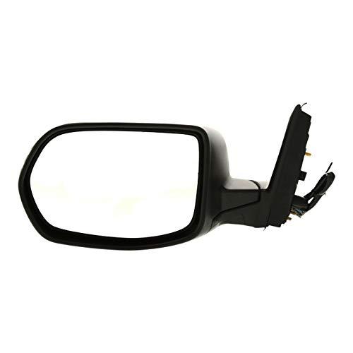 Left Driver Side Power Mirror HO1320226 76250SXSA01 2007-2011 Fits Honda CR-V, Manual Folding, Non-Heated, Textured Black