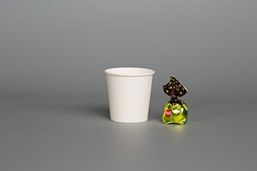 GreenFeel 4oz wit papier bekers (200st) wegwerp enkele muur voor Espresso koffie Shots monstername partij weg picknick outdoor proeven partij servies (4oz)