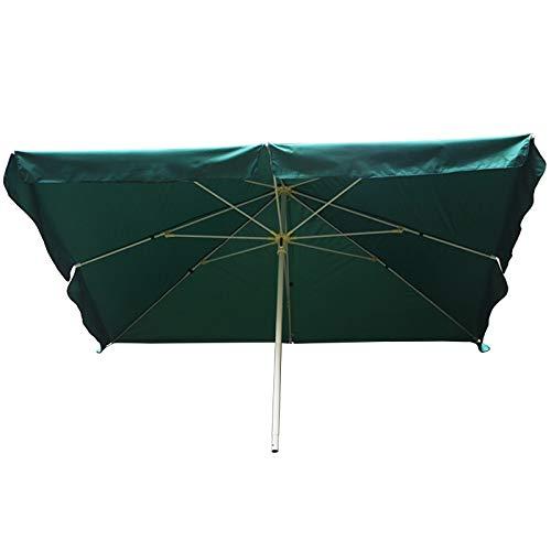 HWF Sombrilla Sombrilla de Patio Rectangular 8 × 6 pies, Sombrilla de jardín, Paraguas de Mesa de Mercado al Aire Libre para jardín/césped/terraza/Patio/Piscina (Color : Green)