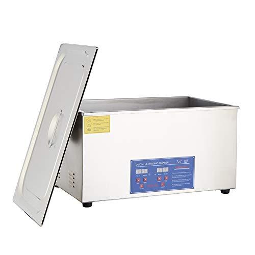 Sfeomi Limpiador Ultrasónico Digital 480W 22L Limpiador Ultrasónico con Temporizador Digital Máquina de Ultrasonido para Limpieza de Acero Inoxidable para Limpiar Anteojos Anillos (22L)