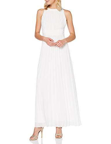 APART Fashion Elegancka sukienka wieczorowa, plisowana szyfon, luźna taśma w talii, klasyczny krój, sukienka na specjalne okazje
