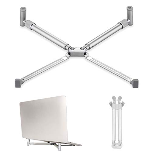 """Laptop Stand, ProChosen Adjustable Aluminum Laptop Holder Laptop Computer Stand Tablet Stand, Ventilated Cooling Notebook Stand Mount Compatible with MacBook Air Pro, Dell XPS, HP, More 11-17"""" Laptops"""
