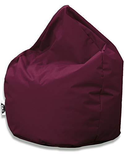 PH Patchhome Sitzsack Tropfenform - Weinrot für In & Outdoor XL 300 Liter - mit Styropor Füllung in 25 versch. Farben und 3 Größen