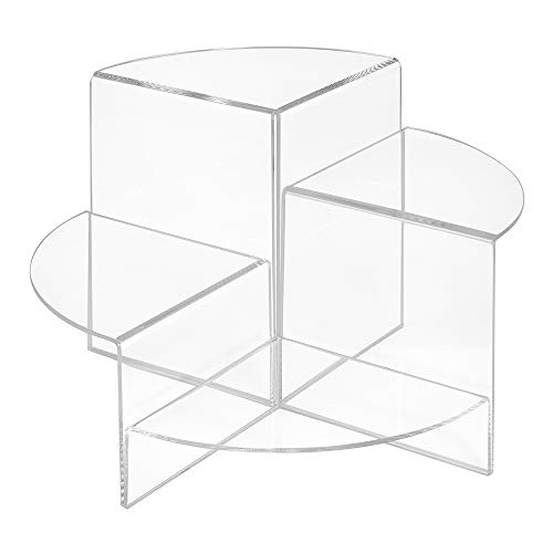4er Set Dekopodeste in 50, 100, 150 und 200mm Höhe, aus glasklarem Acrylglas/Warenpodest/Warenträger/Verkaufsständer/Dekowinkel/Präsentationsdisplay - Zeigis®