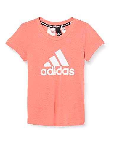 adidas Yg Mh Bos Tee T-Shirt für Mädchen XXXL Rosa (serode) / Weiß