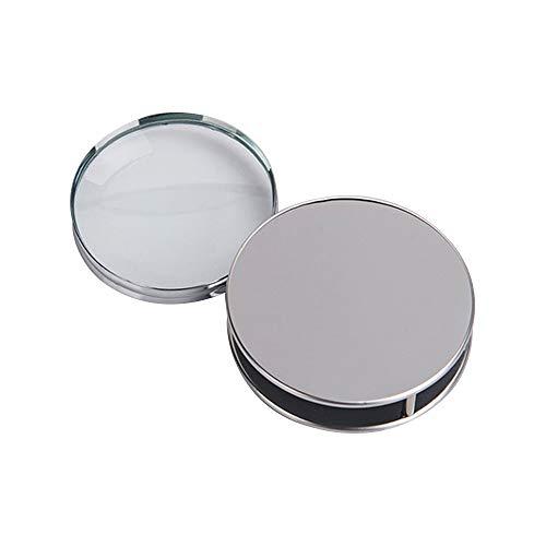 LANGING Lupa plegable de bolsillo portátil con lupa de metal y lupa de lectura 10X para inspección de la oficina de ciencias