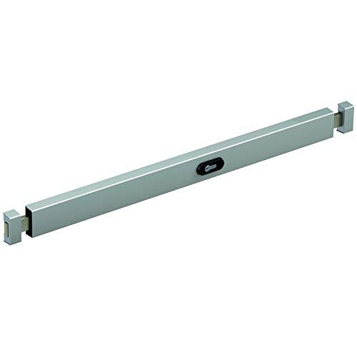 Secureo Panzerriegel für Eingangstüren zwischen 800-950 mm Breite   inkl. Doppelzylinder - Bedienung von Innen und Außen   Farbe: silber