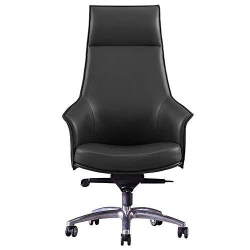 KDOAE Sillas de Escritorio Silla Ejecutiva Ergonómica de la Oficina, Silla Swivel Swivel Swivel de PU Negro para la Oficina en Casa (Color : Black, Size : One Size)