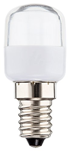 Müller-Licht LED Kühlschranklampe, ersetzt, Plastik, E14, 2.0 W, Weiß, 2.5 x 2.5 x 6 cm