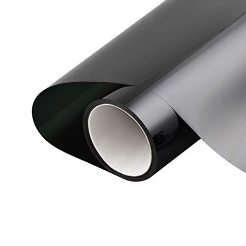 lefeindgdi Película para ventana de privacidad diurna pegatinas de vidrio anti-peeping ventana sombreado negro decorativo adhesivo parasol aislamiento de calor película de vidrio de 19.5-39 pulgadas