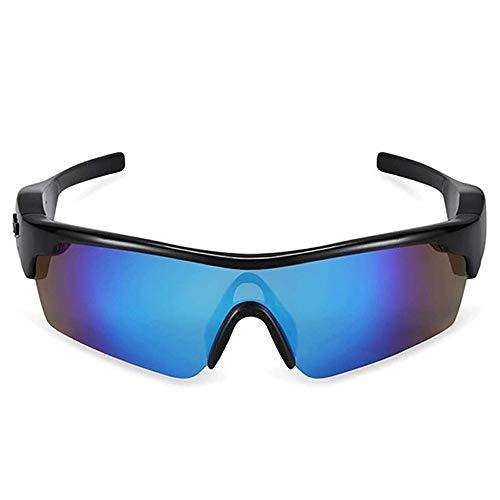 Adesign Música inalámbrica Bluetooth Gafas de Sol de Auriculares con Manos Libres estéreo for el Ciclo/Escalada/Viajes (Color : A)