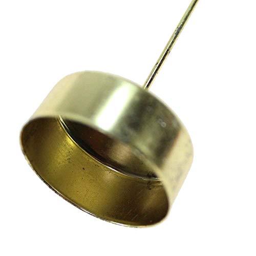 Floral-Direkt 10 Teelichthalter Langer Dorn Ø4,1cm Gold Silber Kerzenhalter Stecker Teelicht, Farbe:Gold