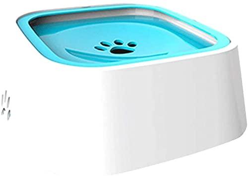 1.5L Pet Dog Water Bowl Floating No Wetting Bouth Anti Derramiento sin derrame Beber Cats Cuencer Alimentador Agua Dog Bowl Dispensador (Color : Blue)