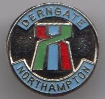 1000 Flags Northampton Town Derngate - Northamptonshire County Town Crest Flag Pin Badge
