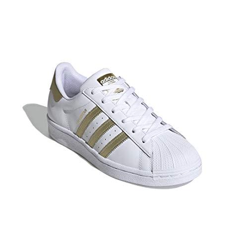 adidas Superstar - Zapatillas deportivas para mujer, color Blanco, talla 40 2/3 EU