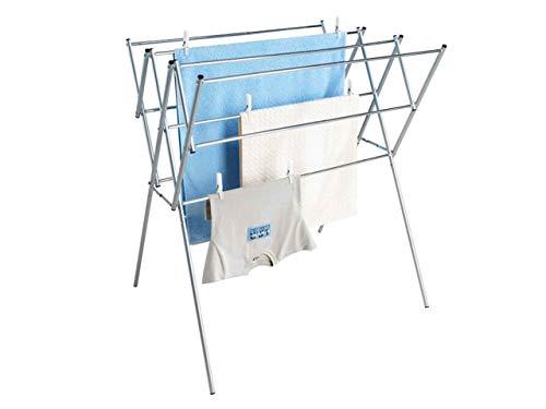 WENKO Teleskop-Wäschetrockner, Edelstahl rostfrei, 54-92 x 96,5 x 65,5 cm, glänzend