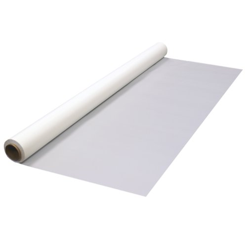 Party Essentials Heavy Duty Plastic Banquet Table Roll Available in 27 Colors, 40' x 150', White