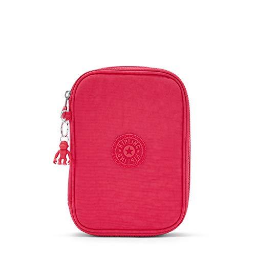 Kipling Estojo para 100 canetas, ouro brilhante, 15 cm C x 21 cm A x 5 cm P, Rosa picante, One Size