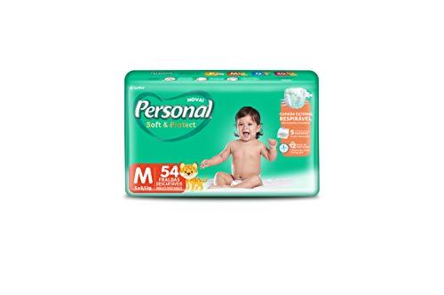 Fralda Descartável Soft and Protect Mega, Personal, Média, 54 unidades