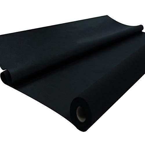 Sensalux Tischdeckenrolle, stoffähnliches Vlies, Oeko-TEX Standard 100 - Klasse I Zertifiziert, 1m x 25m, Schwarz