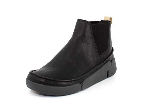 Clarks Womens Tri Poppy Black Leather