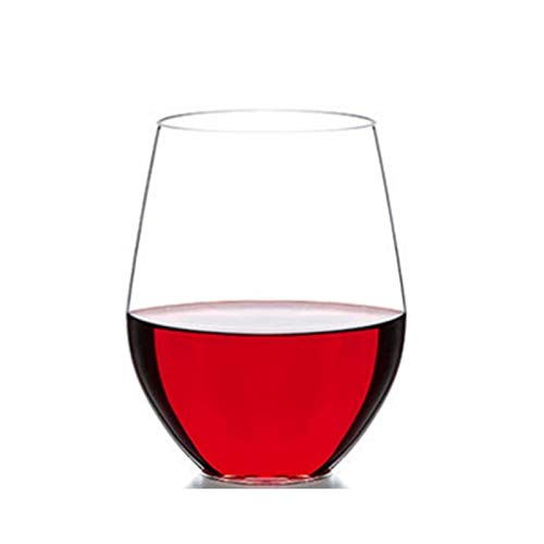 KANCK Vidrio de Agua plástica Transparente, Material de la Cerveza de Cristal de Cristal de Vino Tinto Anti-daño