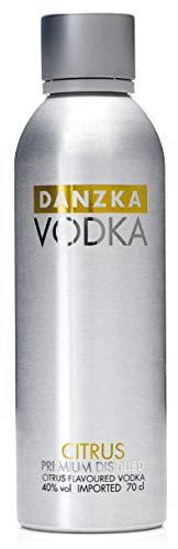 Danzka | Citrus | Premium - Wodka | 1 x 700ml | Aluminiumflasche | Skandinavisches Design | Copenhagen