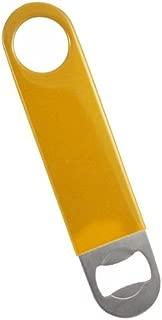 Apribottiglie in vinile colore giallo barman