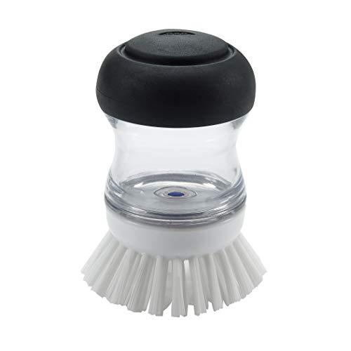 OXO Spazzola con Dispenser, Plastica, Bianco