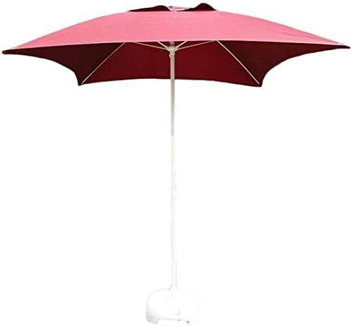 FACAZ Sombrillas de jardín al Aire Libre 6.56ft 2m Sombrilla de Mercado/jardín/Patio, UV50 + Sombrilla de Exterior para terraza, Mesa de balcón o Patio, Cuadrada