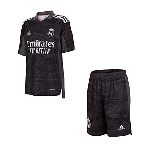 adidas Real Madrid 2021-2022 Home Goalkeeper Mini Kit